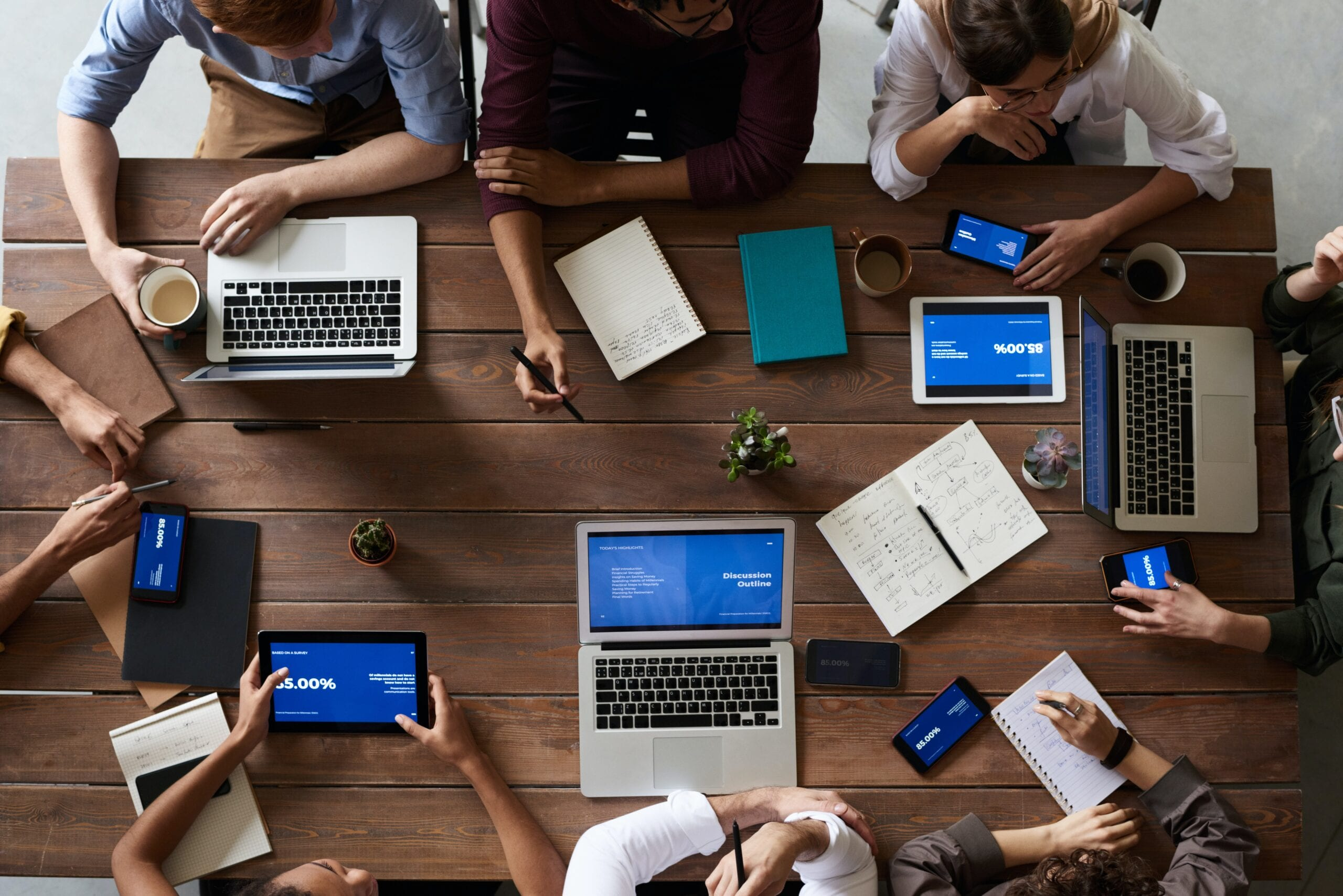 group of people in working desk