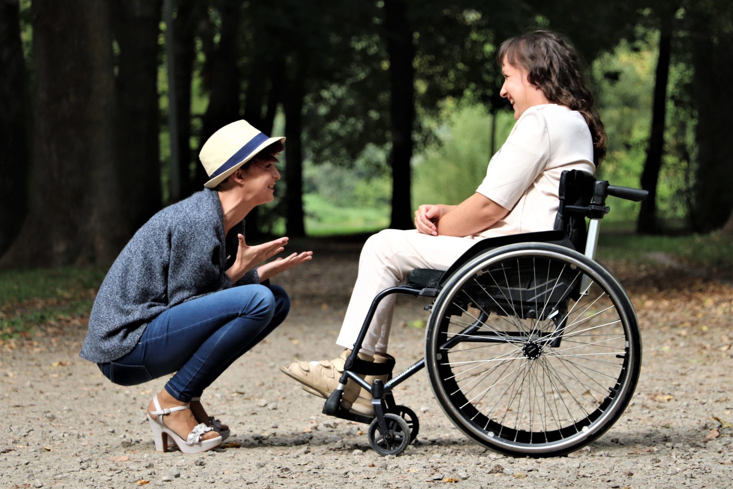 disablity lady on wheelchair